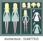 girl animation | Shutterstock .eps vector #516877315