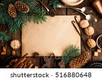 culinary background for recipe... | Shutterstock . vector #516880648