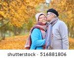 happy senior couple in an...   Shutterstock . vector #516881806