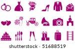 wedding icons | Shutterstock .eps vector #51688519