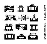 bridges vector icons | Shutterstock .eps vector #516885895