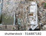 top view of damage area  crash... | Shutterstock . vector #516887182