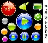 vector set of web buttons | Shutterstock .eps vector #51688720