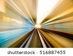 speed motion in urban highway... | Shutterstock . vector #516887455