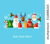new year party greeting concept.... | Shutterstock .eps vector #516888265