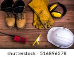 standard construction safety... | Shutterstock . vector #516896278