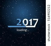 loading 2017 inscription bar... | Shutterstock .eps vector #516902212