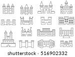 set of castles   fortress... | Shutterstock .eps vector #516902332
