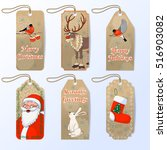 vector collection of six cute... | Shutterstock .eps vector #516903082
