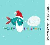 Marine Fish On A Christmas...