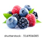 Sweet Berries Mix Isolated On...