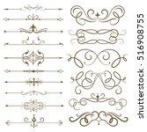antique decorative elements ... | Shutterstock .eps vector #516908755