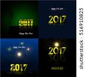 set of happy new year... | Shutterstock .eps vector #516910825