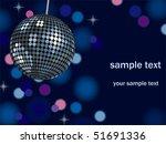 background mirror ball | Shutterstock .eps vector #51691336