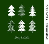 christmas card with christmas... | Shutterstock .eps vector #516917572