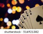 royal flush poker cards...