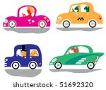 four funny car with a driver ... | Shutterstock .eps vector #51692320