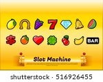 slot machine symbols | Shutterstock .eps vector #516926455