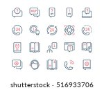 help and support. set of thin... | Shutterstock .eps vector #516933706