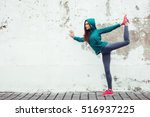 fitness hipster girl in fashion ... | Shutterstock . vector #516937225