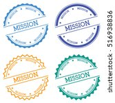 mission badge isolated on white ... | Shutterstock .eps vector #516938836