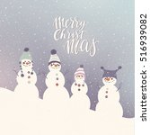 merry christmas greeting card... | Shutterstock .eps vector #516939082