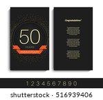 anniversary invitation greeting ... | Shutterstock .eps vector #516939406