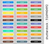 set of colored web buttons. web ... | Shutterstock .eps vector #516940492