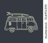 minivan. hand drawn... | Shutterstock .eps vector #516951595