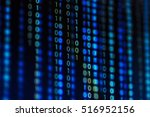 digital binary data on computer ... | Shutterstock . vector #516952156