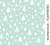 holiday pattern  christmas... | Shutterstock .eps vector #516958582