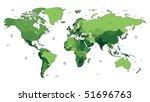 detailed vector world map of... | Shutterstock .eps vector #51696763