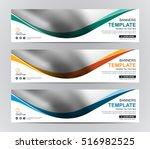 abstract banner design... | Shutterstock .eps vector #516982525