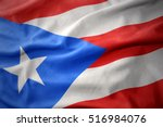waving colorful national flag... | Shutterstock . vector #516984076