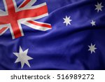 waving colorful national flag... | Shutterstock . vector #516989272