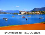 scenic view of lake maggiore ... | Shutterstock . vector #517001806