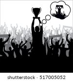 posters with cheering people | Shutterstock .eps vector #517005052