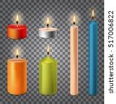 3d set realistic paraffin... | Shutterstock .eps vector #517006822