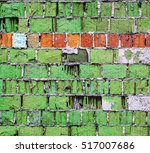 Green Brick Wall Texture With...