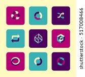vector flat icons set  ...   Shutterstock .eps vector #517008466