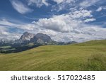 view of sassolungo  ... | Shutterstock . vector #517022485