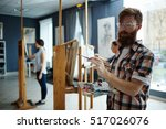 learning to paint | Shutterstock . vector #517026076