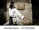 Portrait Of A Girl Doing Karate ...