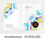 geometric background template... | Shutterstock .eps vector #517031182