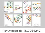 geometric background template... | Shutterstock .eps vector #517034242