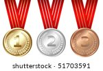 golden  silver  bronze medals ...