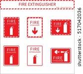 fire extinguisher vector sign... | Shutterstock .eps vector #517042036