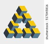 medium penrose triangle... | Shutterstock .eps vector #517045816