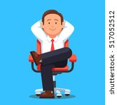 businessman sitting calmly on a ... | Shutterstock .eps vector #517052512
