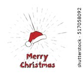 merry christmas lettering and... | Shutterstock .eps vector #517058092